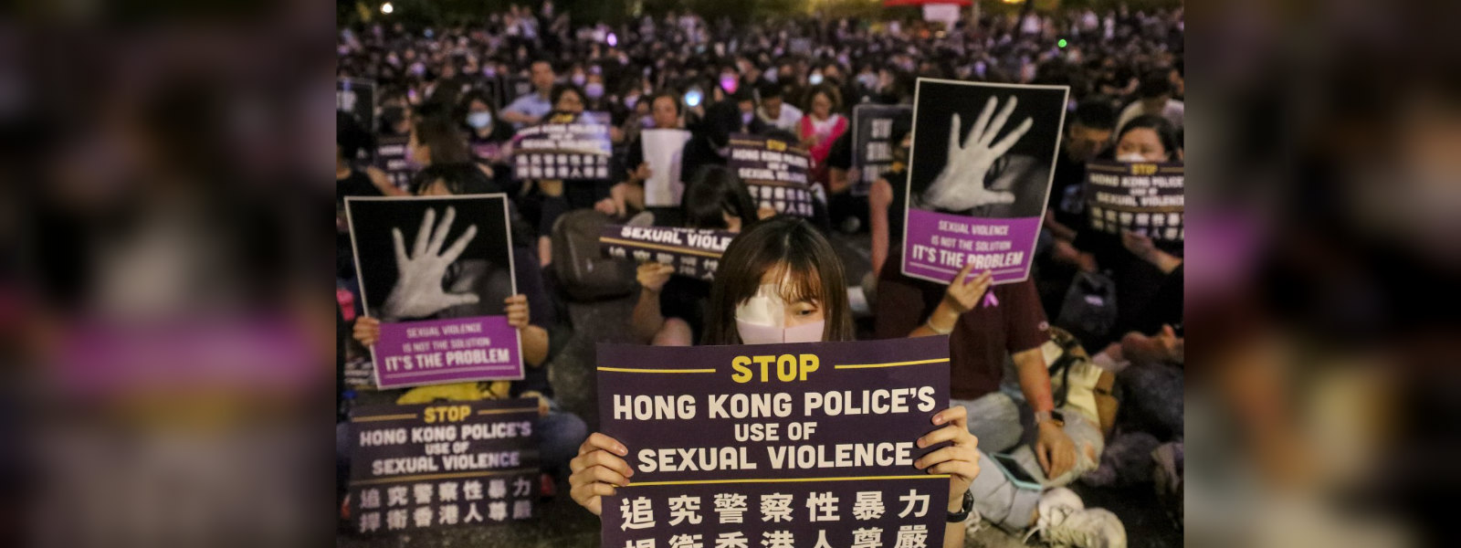Hong Kong protesters hold '#MeToo' rally against alleged police sexual violence