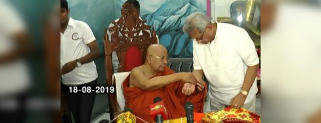 Presidential candidate Gotabaya Rajapaksa engages in religious activities