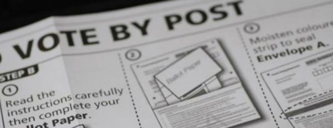 Applications open for postal voting