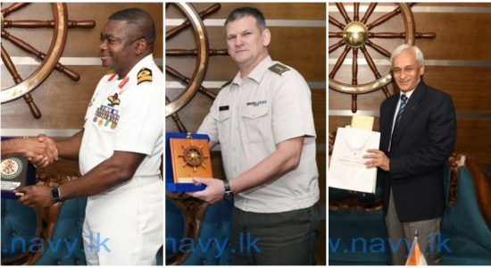 Several defence heads call on Navy Commander