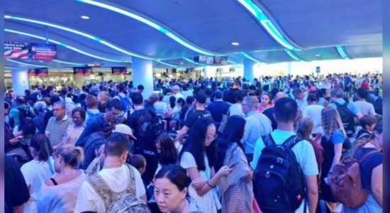 Social media video shows travelers delayed at major U.S. airport by nationwide computer outage