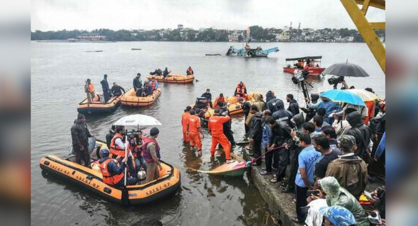 Rescue operations gather pace after boat capsized in India