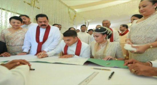 Namal Rajapaksa ties the knot