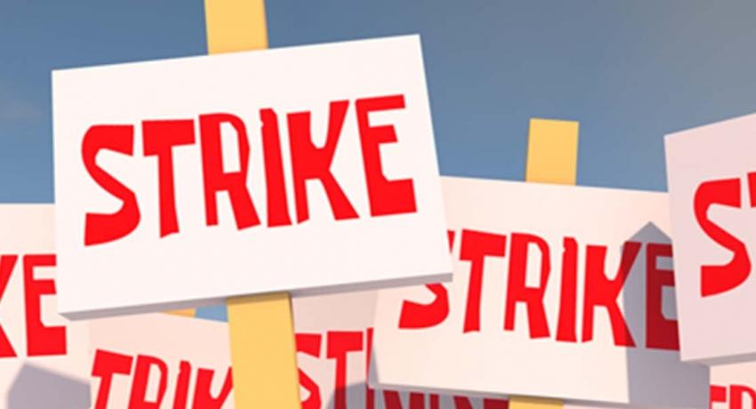Non-academic staff of State Universities on strike