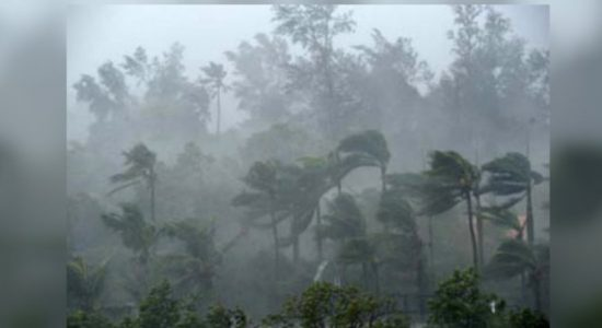 Increased wind speeds in the southern parts of the island