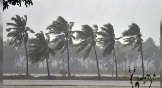 Wind speeds up 80 kmph and severe flood warning  – Met. Department