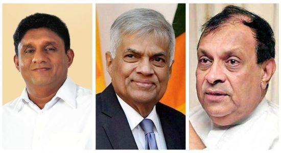 Ranil, Sajith and Karu meet for talks