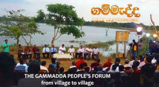 Gammadda Village forum tours island for the 20th day