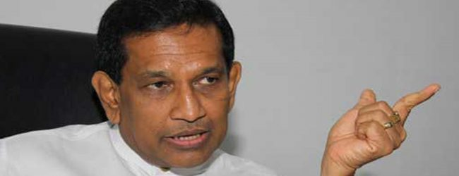 Special meeting at Minister Rajitha Senaratne's official residence