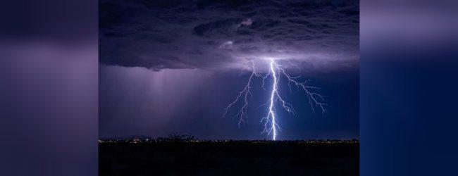 Thundershowers and lightning till 9pm