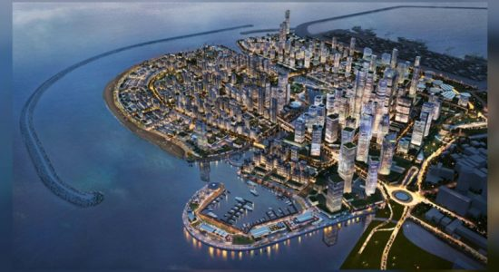 Foundation stone laid for elevated expressway to the Colombo Port City