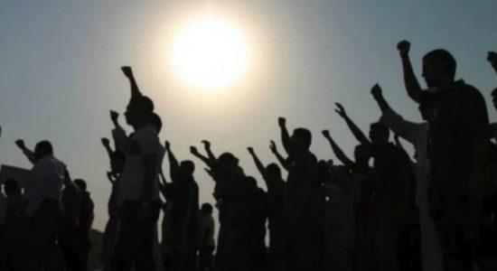 Farmers surround Ministry of Mahaweli and Environment demanding water
