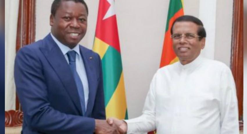 President of Togo calls on President Maithripala Sirisena