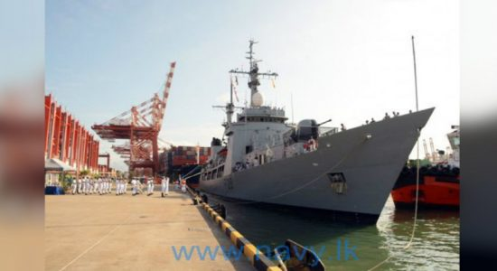"Bangladesh Navy ship ""Somudra Avijan"" arrives at Port of Colombo"