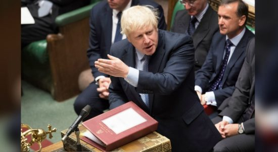 British PM, Boris Johnson against the delay of the BREXIT deal