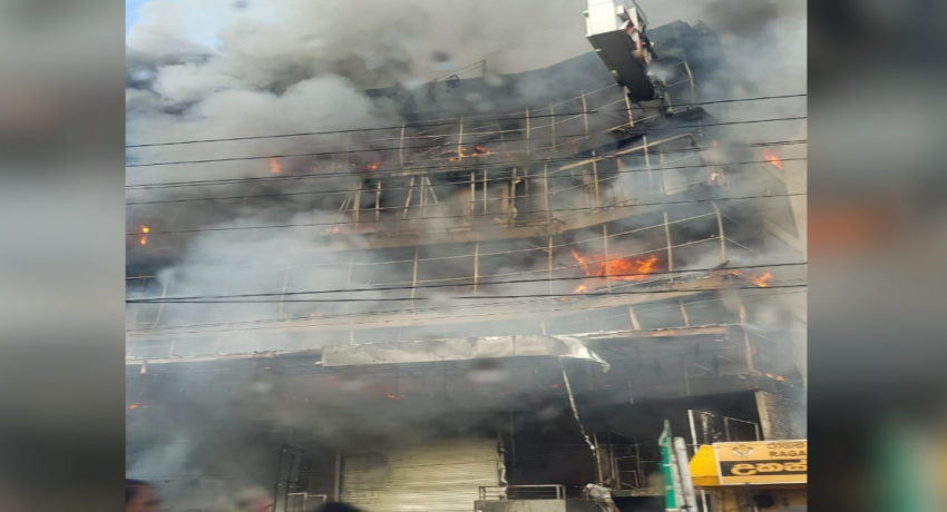 UPDATE:- Fire in Wattala yet to be doused