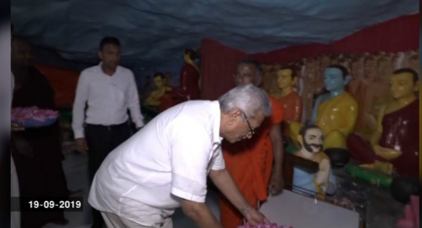 Gota visits the Dimbulagala Rajamaha Viharaya