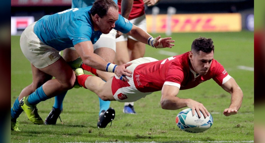 Rugby World Cup: Wales claims a 35 – 13 victory over Uruguay