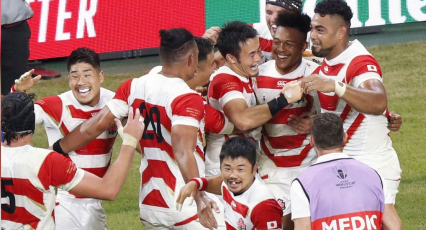 Japan close in on first Rugby World Cup quarter-final after win over Samoa