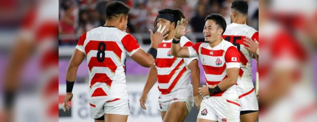 Japan beats Scotland and advances to RWC quarter finals