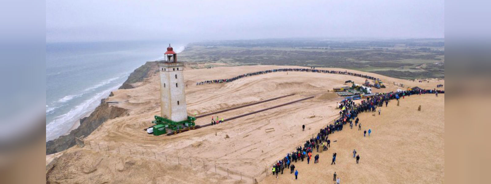 Lighthouse moved away from coast to stop it falling into Danish sea