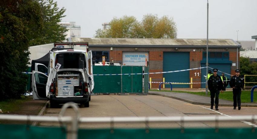 British police find 39 dead in truck container, arrest driver