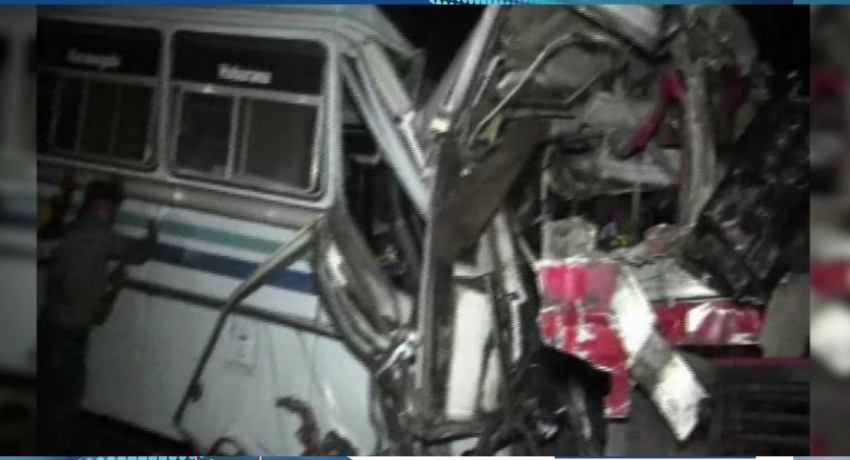 Bus collision in Minneriya claims one life, 60 injured