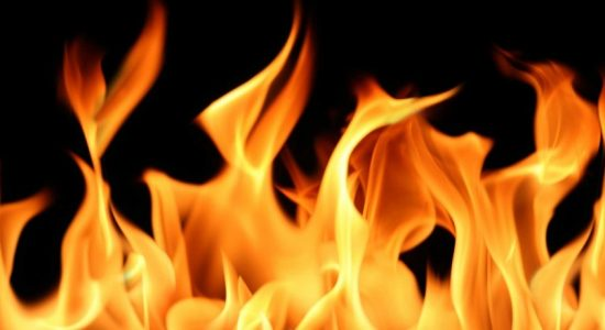 Cocount factory in Minuwangoda engulfed in flames