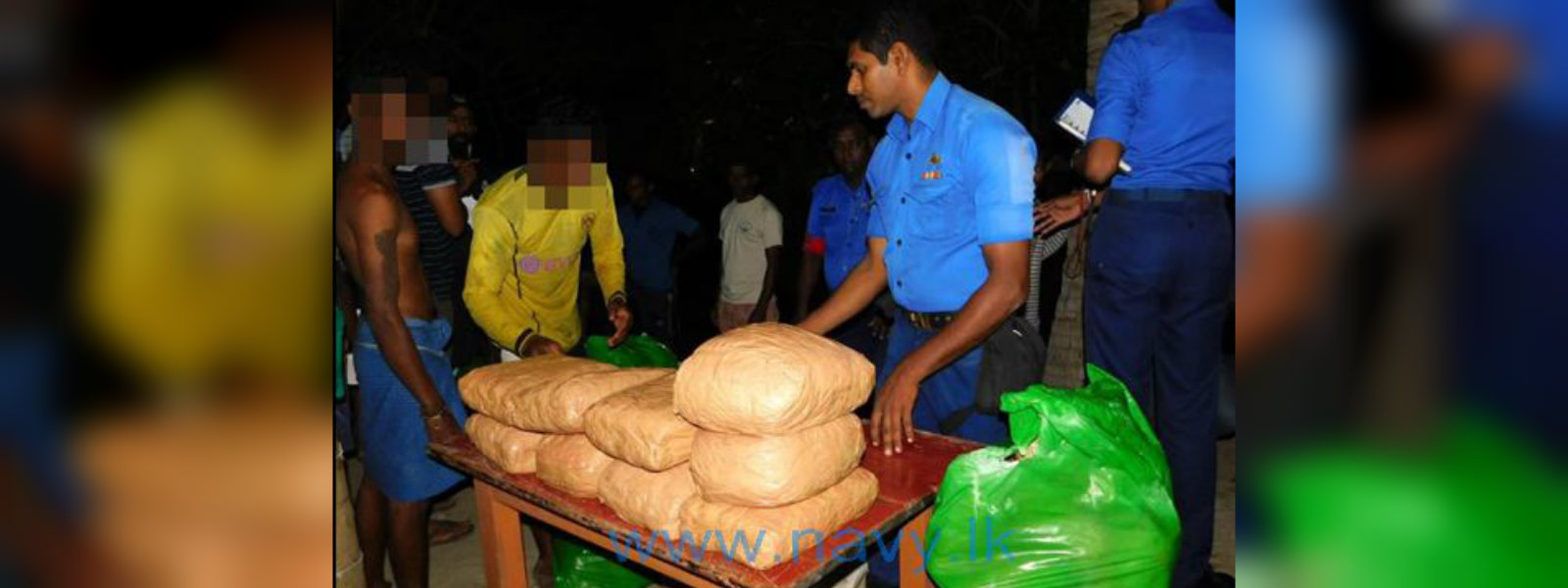 Navy arrests three people with 221 kg of Kerala ganja