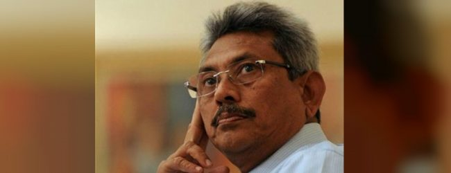 I have a special team to implement our plan : Gotabaya Rajapaksa