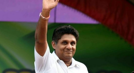 Presidential candidate Sajith Premadasa presents the Women's charter
