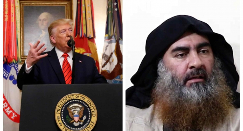 Islamic State leader Baghdadi died 'in panic and dread', says Trump