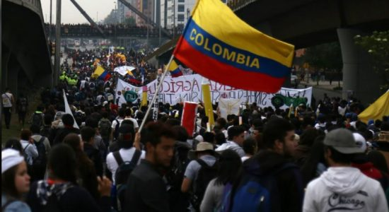 Student protest against corruption turns violent in Colombia
