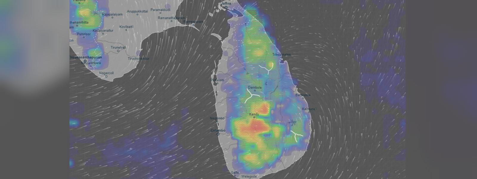 Amber alert for heavy rain and lightning