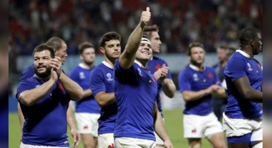 France hold on to beat Tonga 23-21 and reach Rugby World Cup quarter-finals