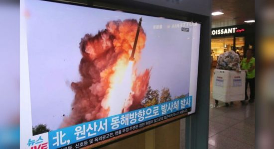 North Korea's state TV releases photos of latest missile test