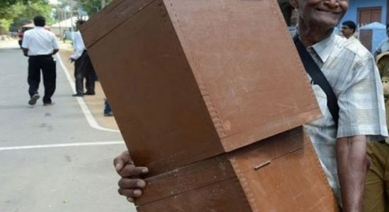 Cardboard ballot boxes for presidential elections