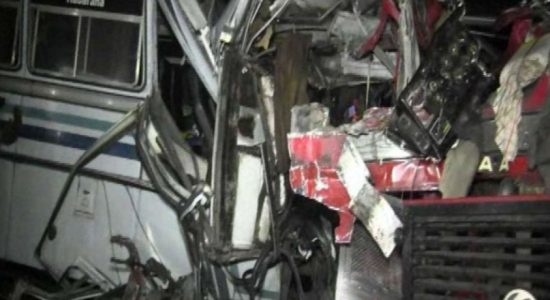 Bus accident kills one and injures 60