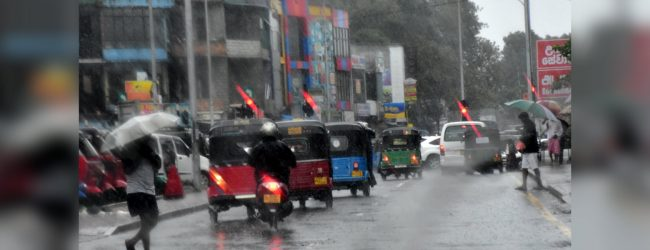 Rainfall due for most parts of the country