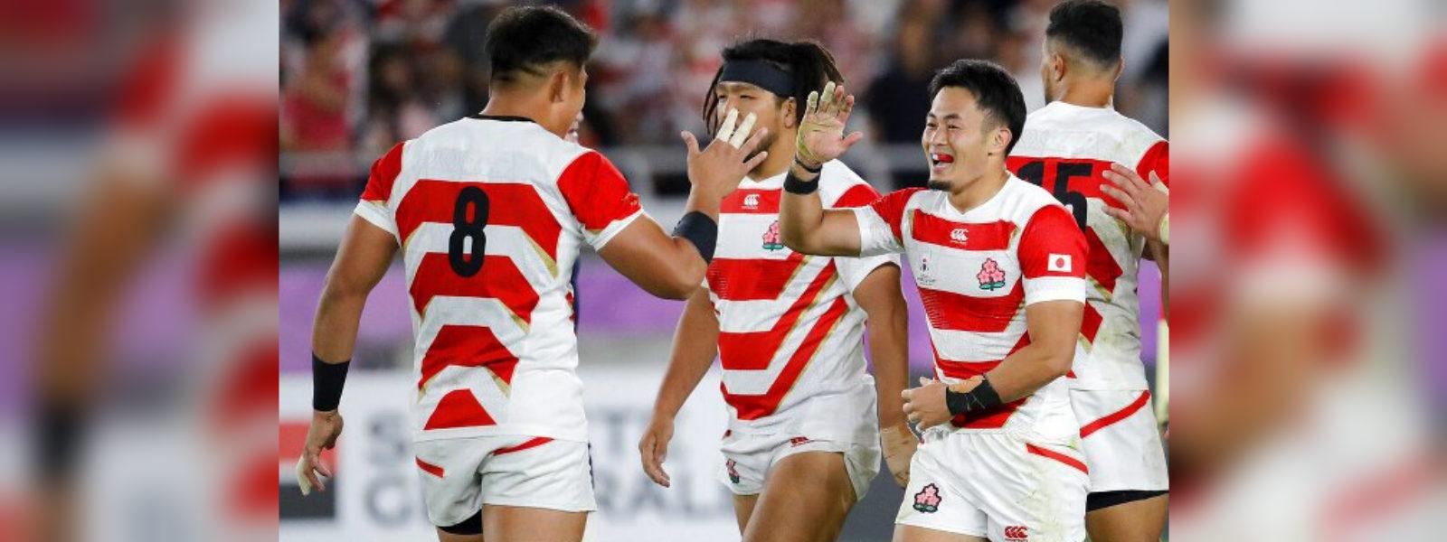 Japan beats Scotland and advances to RWC quarter finals
