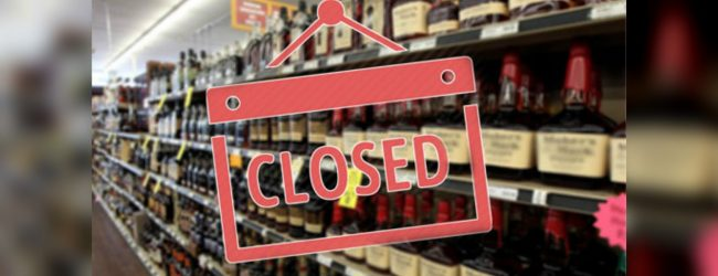 Liquor shops closed today