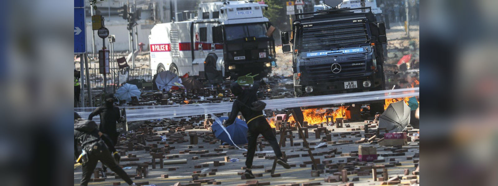 Hong Kong Polytechnic University campus reduced to 'war zone' by rioters