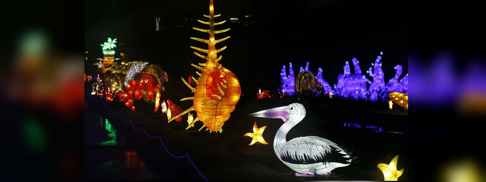 Under the sea: giant sea creature lanterns light up Paris