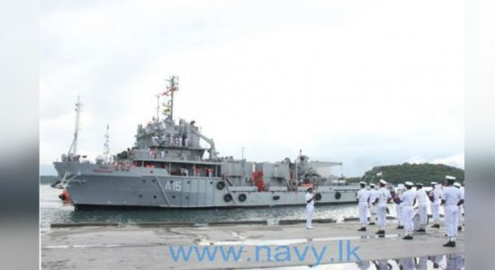 INS 'Nireekshak' arrives at Trincomalee harbour
