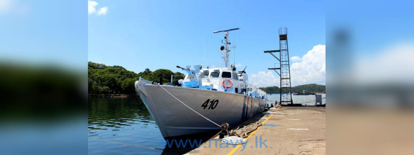 CG 410 handed over to the Sri Lanka Coast Guard