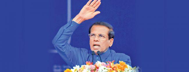President Maithripala Sirisena's official term ends