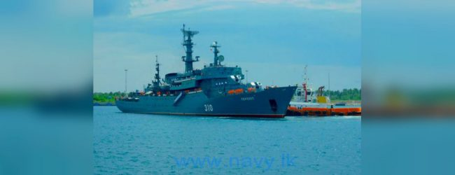 Russian training ship 'Perekop' arrives in Hambantota