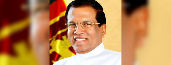 Maithripala Sirisena extends wishes to new President