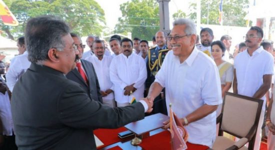 Gotabaya Rajapaksa sworn in as the 7th Executive President of Sri Lanka