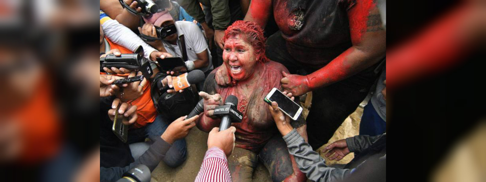 Bolivian mayor attacked with red paint amidst election unrest